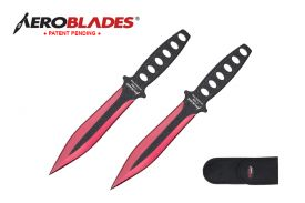 7.5-inch 2pc Set Red Black Blade Thrower