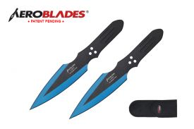 7.5-inch 2pc Set Blue Black Blade Thrower