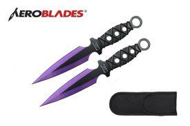 9-inch 2pc Set Purple Thrower