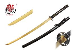 41.5-inch Length, 1045 Gold Carbon Steel Blade, Ray SKin Wrapped Handle, Sword Bag, Certificate