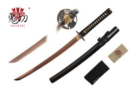 32-inch Length, 1045 Rose Gold Carbon Steel Blade, Ray SKin Wrapped Handle, Sword Bag, Certificate
