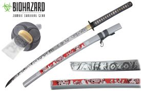 Zombie sword 1045 carbon steel real ray skin handle