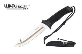 11.5-inch Length, Stainless Steel Gut-Hook Blade, Rubber Handle, Nylon Sheath