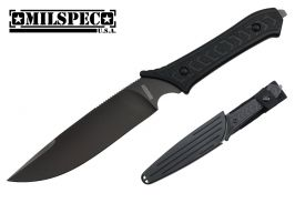 11.5-inch Overall 440 Titanium blade,Rubber handle,ABS sheath