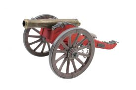"11 1/2"" Civil War Cannon Cart"