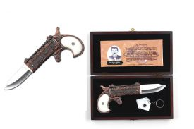 Doc Holiday Revolver Knife, Includes Key Chain & Display Box