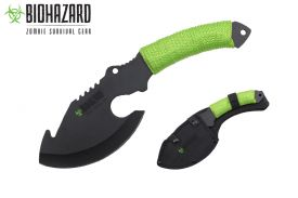 11 zombie axe with paracord wrapped handle-inch