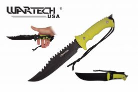 13-inch BK-YL Color Change Handle Hunting Knife.