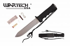 13.5-inch Black Survival Knife w  Survial kit and Hard Sheath