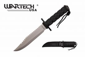 12-inch overall 7-inch blade black survival knife