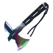 """8"""" Fixed Blade Rainbow Wartech Throwing Axe"""