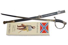 """36 1/4"""" Confederate Cavalry Sword /w Scabbard"""