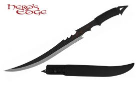 27-inch FULL TANG SWORD W  THOWING KNIFE IN BK SHEATH