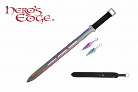 28-inch & -inch5-inch Rainbow Hunting Machete Knife