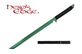 27-inch 440 Stainlees Steel Green Blade Sword w  Sheath