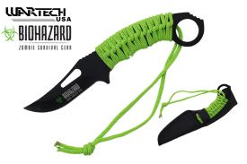"8 1/2"" Biohazard Neck Knife w/ Nylon Sheath"