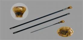 gold spider (2 part NO BLADE) ROUND TOP WALKING CANE