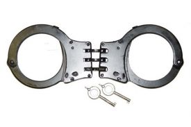 Black 3 hing handcuff with case