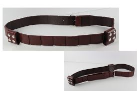 Brown HAN ARTIFICIAL LEATHER BELT- BROWN COLOR