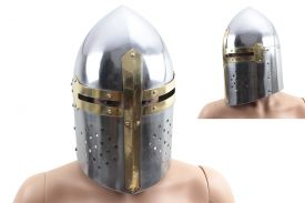 15.5-inch Armor helmet. sugarloaf. Made of 16 to 18 guage steel